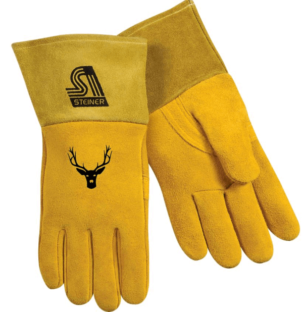 Steiner Industries Sof-Buck™ Premium Reverse Grain Deerskin MIG Welding Gloves #02276 - (Large)