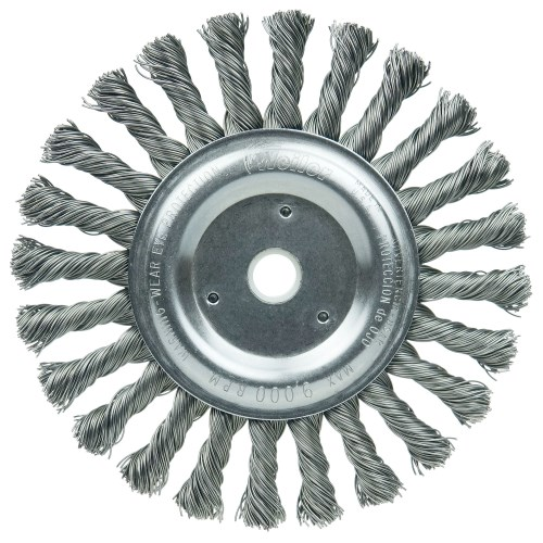 "Weiler 6"" Cable Twist Knot Wire Wheel Brush 08565"
