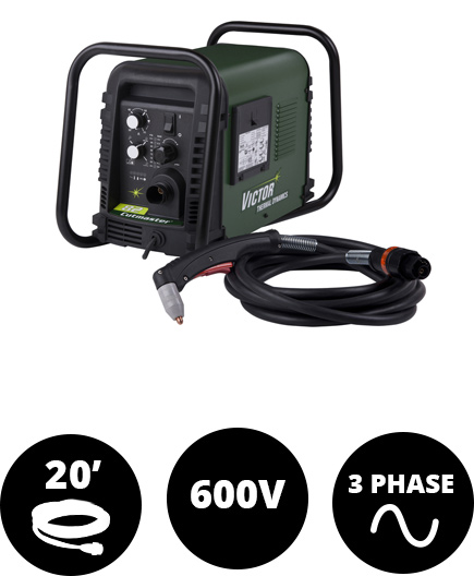 Cutmaster 82, 80 Amp, SL60, 20 ft Leads, 600V, 3Ph