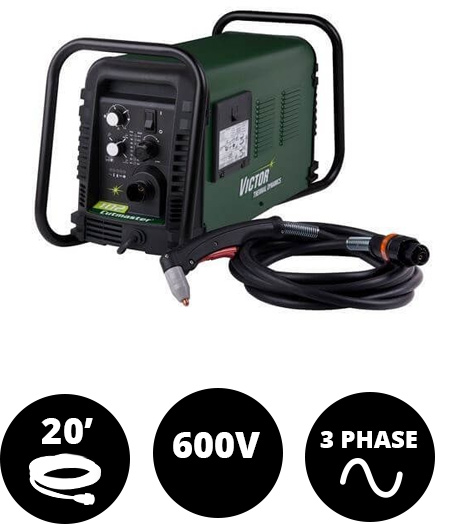 Cutmaster 102, 100 Amp, SL100, 20 ft Leads, 600V, 3Ph