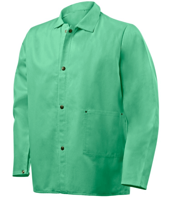 "Steiner Industries 9 oz FR Cotton Jacket with FR Polyester Mesh Back - 30"" Green #1030MB"