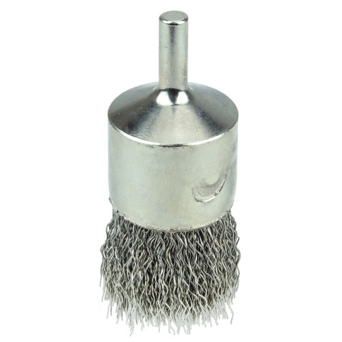 "Weiler 1"" Nickel-Plated Cup End Brush 10380"