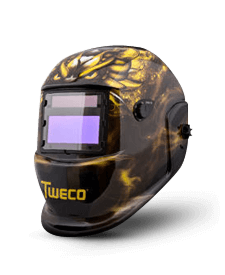 Tweco Auto Darkening Welding Helmet- Golden Dragon Design Part#41001008