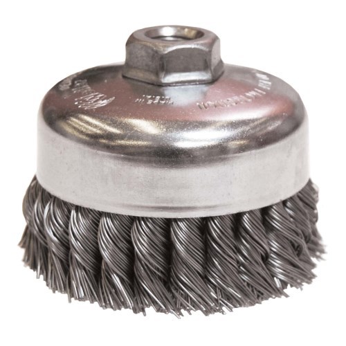 "Weiler 4"" Single Row Knot Wire Cup Brush 12316"