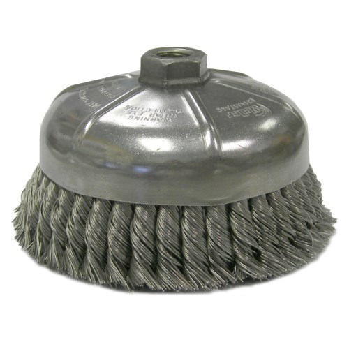 "Weiler 6"" Single Row Knot Wire Cup Brush 12376"
