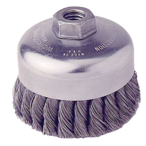 "Weiler 4"" Single Row Knot Wire Cup Brush 12416"