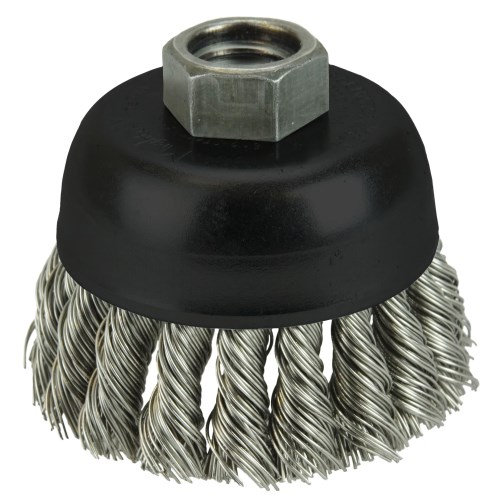 "Weiler 2-3/4"" Single Row Knot Wire Cup Brush 13258"
