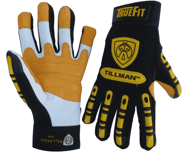 Tillman TrueFit Goatskin Work Gloves with TPR Pads