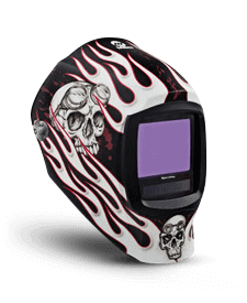 Miller Welding Helmet Flaming Skull Design 280048
