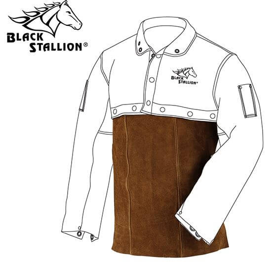 "Revco Black Stallion Split Cowhide Welding Bib - 20"" #20WB"