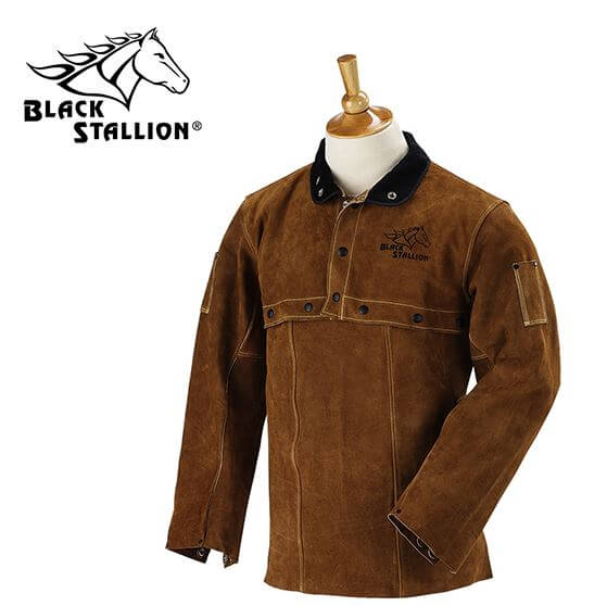"Revco Black Stallion Split Cowhide Cape Sleeves and 14"" Bib Combo #214CS"