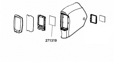 welding shield diagram miller digital infinity inside replacement lens 271319 miller  miller digital infinity inside