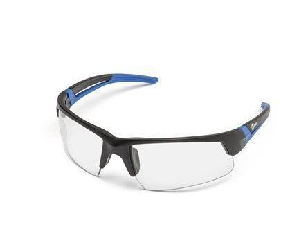 Miller Spark, Black & Blue Frame, Clear Safety Glasses