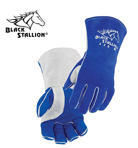 Revco Black Stallion Comfort-Lined Cowhide High-Quality Stick Welding Gloves #320