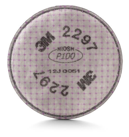 3M™ Advanced Particulate Filter 2297, P100, with Nuisance Level Organic Vapor Relief #70071533973