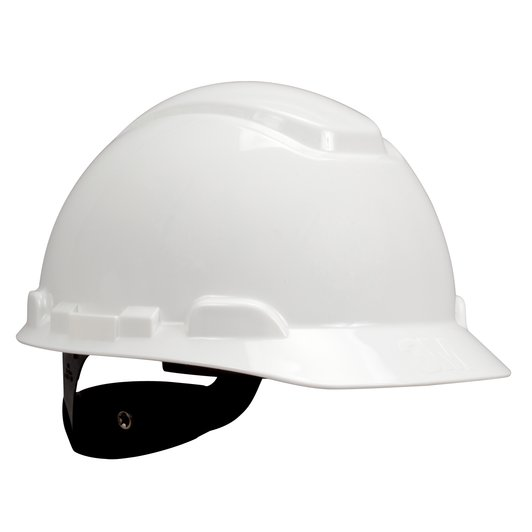 3M™ Hard Hat with Uvicator H-701R-UV, White, 4-Point Ratchet Suspension #70071614310