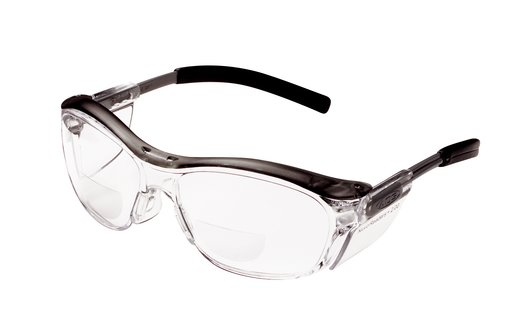 3M™ Nuvo™ Reader Protective Eyewear 11435-00000-20 Clear Lens, Gray Frame, +2.0 Diopter #70071539772