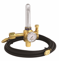 Harris® Model 355-2AR-58010 Medium/Heavy Duty Single Stage Argon Flowgauge Kit With 10' Hose, CGA-580 #4400235