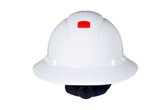 3M™ Full Brim Hard Hat H-801R-UV, White 4-Point Ratchet Suspension, with Uvicator #70071648243