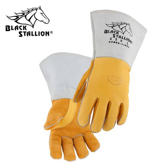 Revco Black Stallion FR Nomex® Lined Elkskin Premium Stick Welding Gloves #850REV