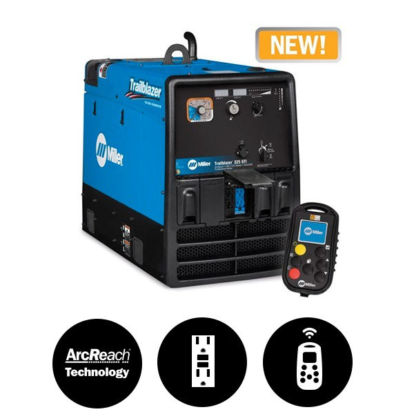 Miller Trailblazer® 325 EFI w/GFCI, Excel™ Power & Wireless Interface Control 907798003
