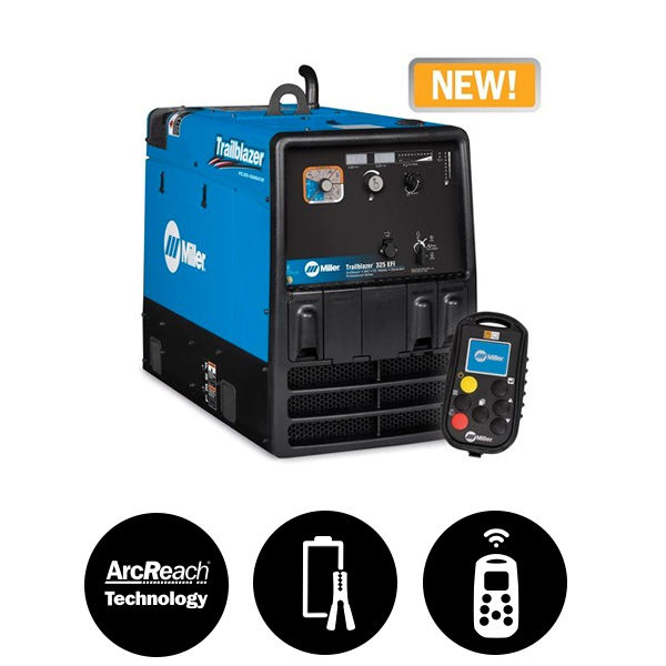 Miller Trailblazer® 325 (Kohler) EFI w/Battery Charge/Jump Start, Excel™ Power & Wireless Interface Control 907798005