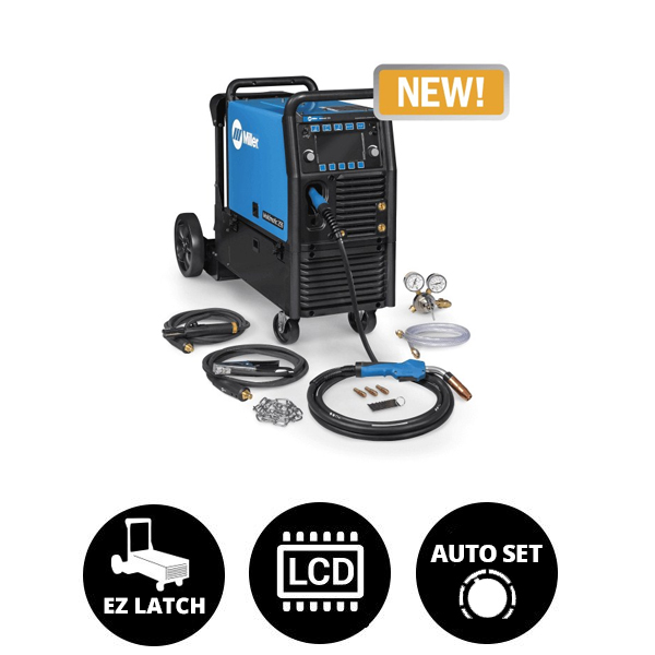 Miller Multimatic® 255 Multiprocess Welder w/ EZ-Latch™ Running Gear