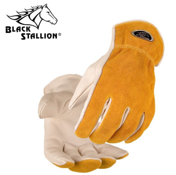 Black Stallion Grain/Split Cowhide Driver's Gloves #97K