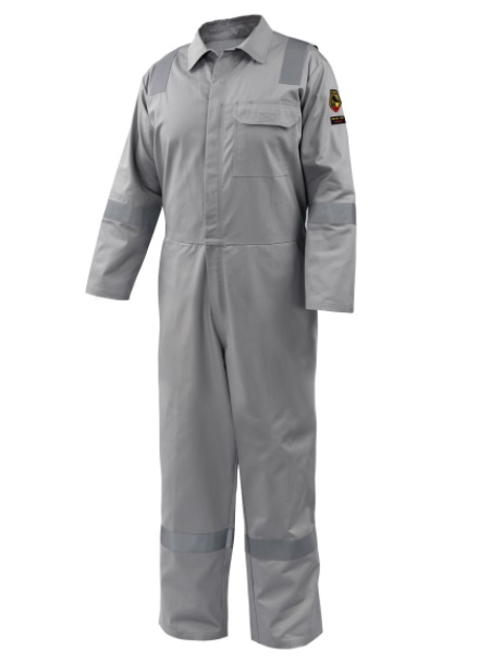AR/FR Cotton Coverall with Reflective FR Tape, Gray CF2118-GY