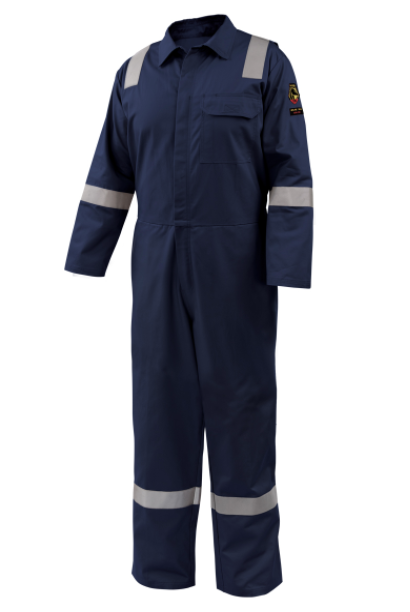 AR/FR Cotton Coverall with Reflective FR Tape, Navy