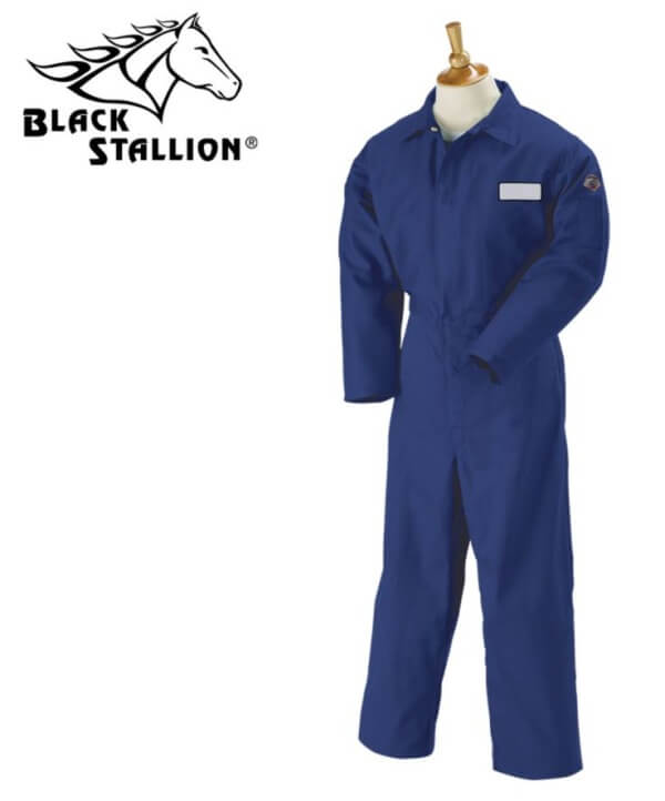 f641b347dcc6 Welding Coveralls Black Stallion Flame-Resistant Cotton Welding ...