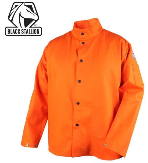 "Revco Black Stallion TruGuard™ 200 FR Orange Cotton Welding Jacket - 30"" #FO9-30C"