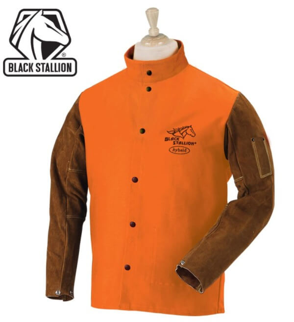 Revco Black Stallion Orange FR Cotton/Split Cowhide Hybrid™ Jacket #FO9-30C/BS