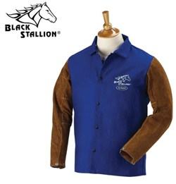 "Revco Black Stallion FR Cotton & Cowhide Hybrid™ Jacket - 30"" #FRB9-30C/BS"