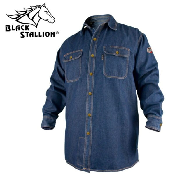 Revco Black Stallion TruGuard™ 200 FR Cotton Denim Work Shirt #FS8-DNM