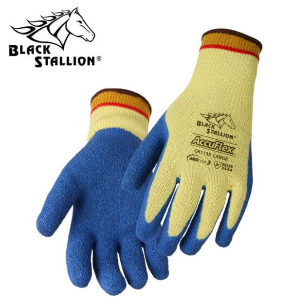 Revco Black Stallion AccuFlex™ Latex Coated Cut-Resistant Kevlar® Gloves #GR1135-YL