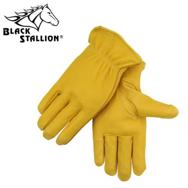 Black Stallion Grain Deerskin Driver's Gloves #I17