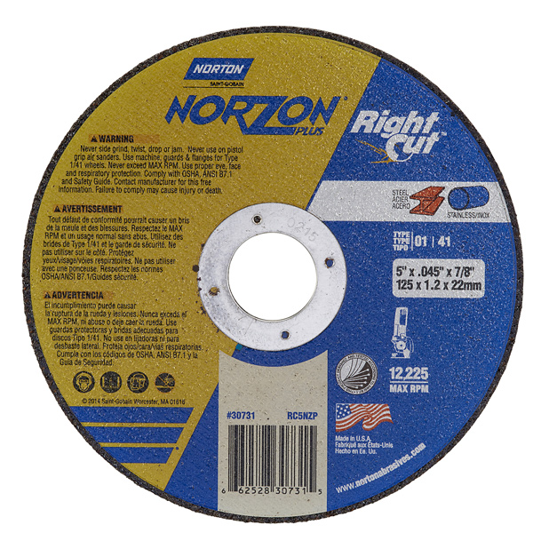 Norton NorZon Plus Rightcut Pkg 25