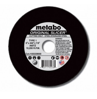 "Metabo 6"" X .040"" type 1 slicer wheel"