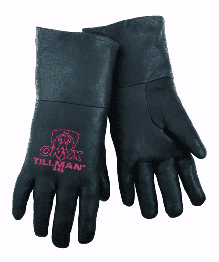 Mig Tig Welding Gloves Large US Forge 400 Welding Gloves Lightweight Safety Work Gloves Thick Warm Insulated Gloves Long Sleeves Industrial Protective Leather Gloves Professional Fireproof Guard