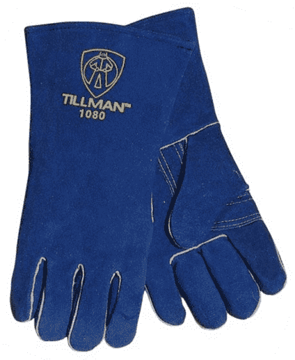 Tillman Cowhide Stick Gloves, Large (Blue) #1080L