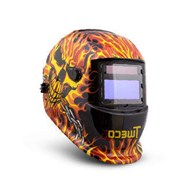 Tweco WeldSkill Auto-Darkening Helmet - Skull and Fire