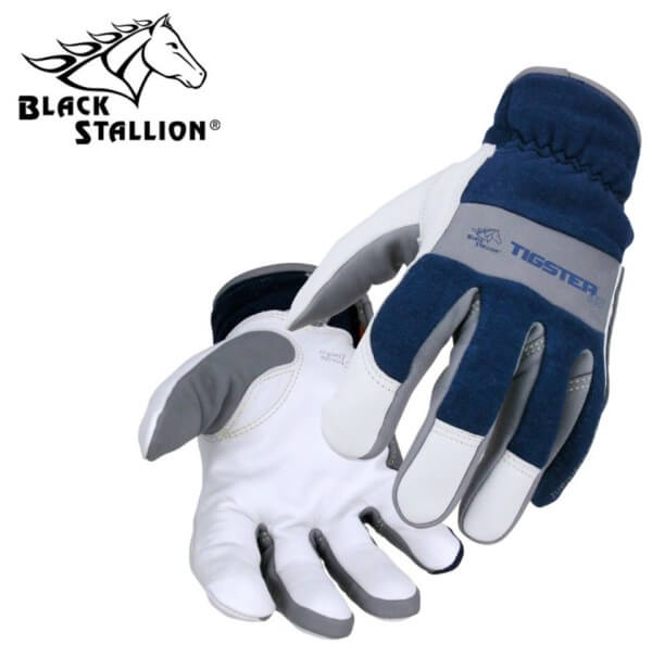 Black Stallion Tigster® FR Cotton/Grain Kidskin Premium TIG Welding Gloves #T50