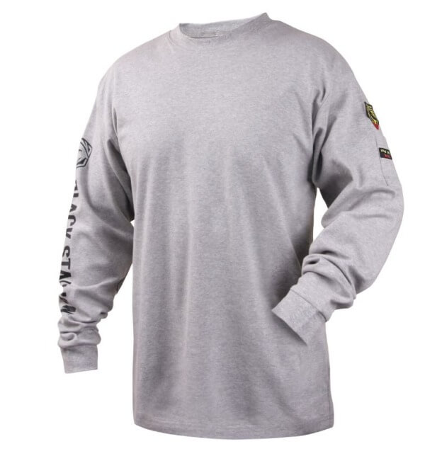 Black Stallion FR Cotton Knit Long-Sleeve T-Shirt Gray #TF2510GY
