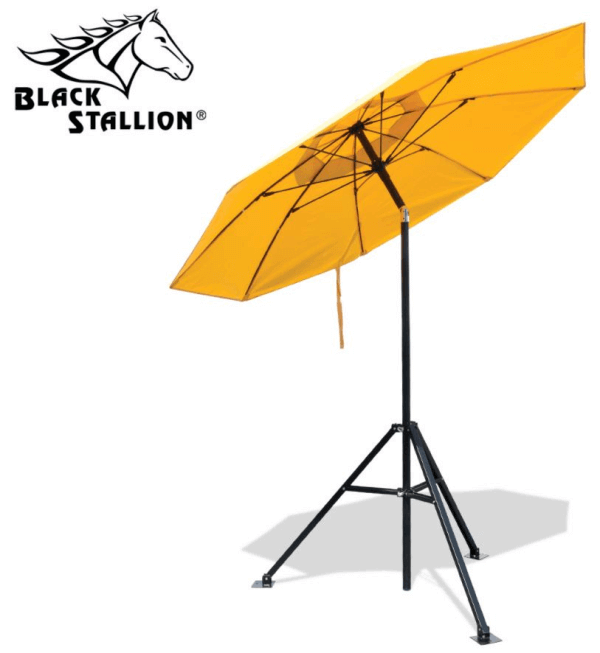 Black Stallion Flame-Resistant Industrial Umbrella #UB100