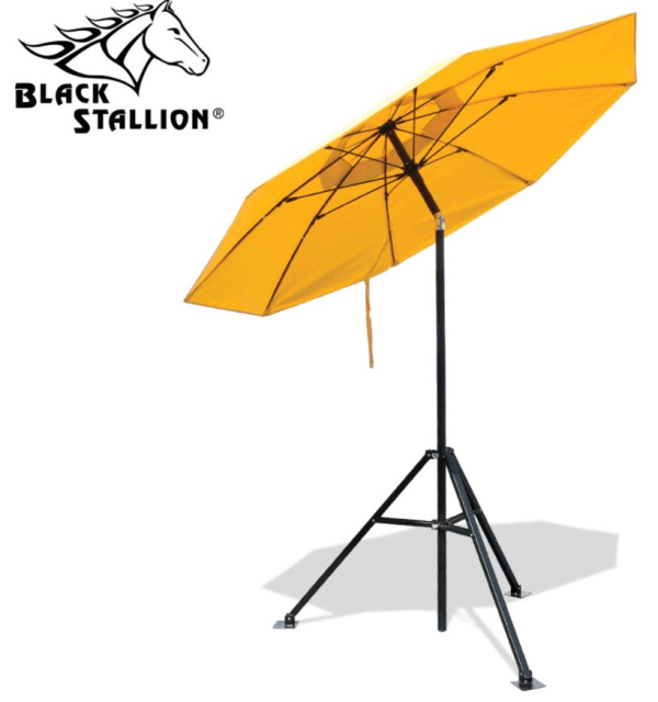 Black Stallion Industrial FR Umbrella and Tripod Stand Set #UB150