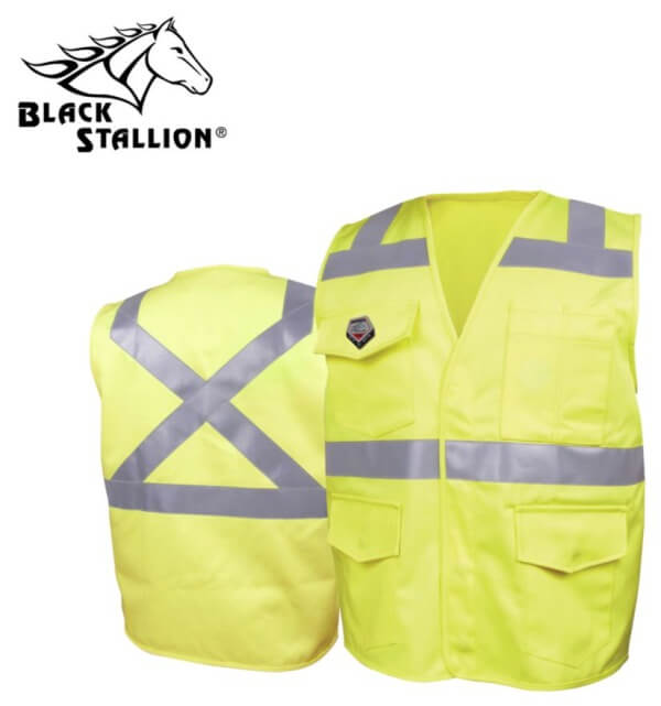 Black Stallion TruGuard™ 250 FR Cotton Safety Vest, Reflectives #VF1110HY