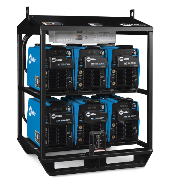 Stick Welding Machine >> Miller XMT 350 Rack #907406 CC/CV 6-Pack For Sale | XMT Rack CC/CV 6-Pack | Welding Machine ...