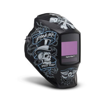 Miller Digital Elite AutoDarkening Welding Helmet 'Lucky's Speed Shop'