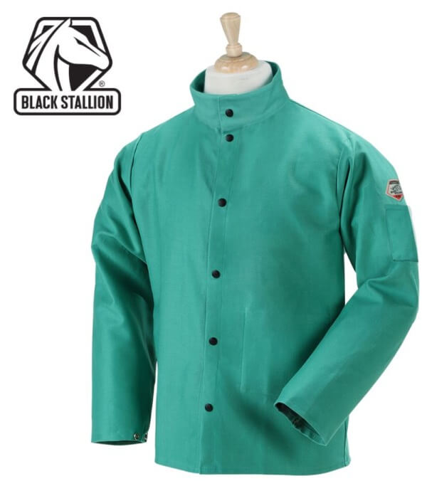 "Revco Black Stallion TruGuard™ 200 FR Cotton Welding Jacket - 30"" #F9-30C"